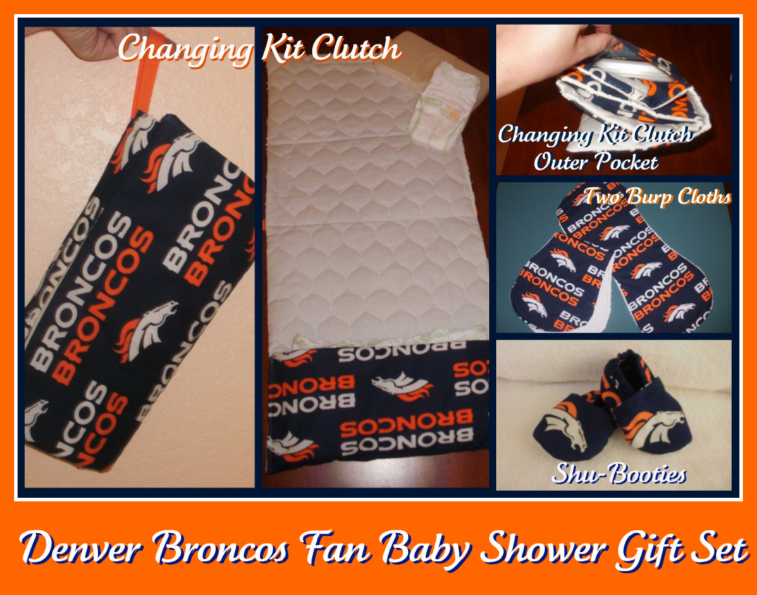 Custom Diaper Bag Ensemble - Denver Broncos