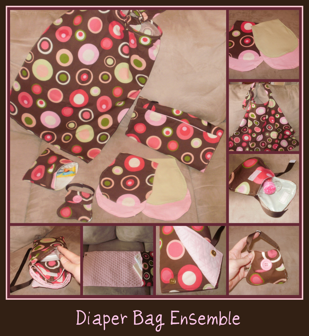 Diaper Bag Ensemble = $50