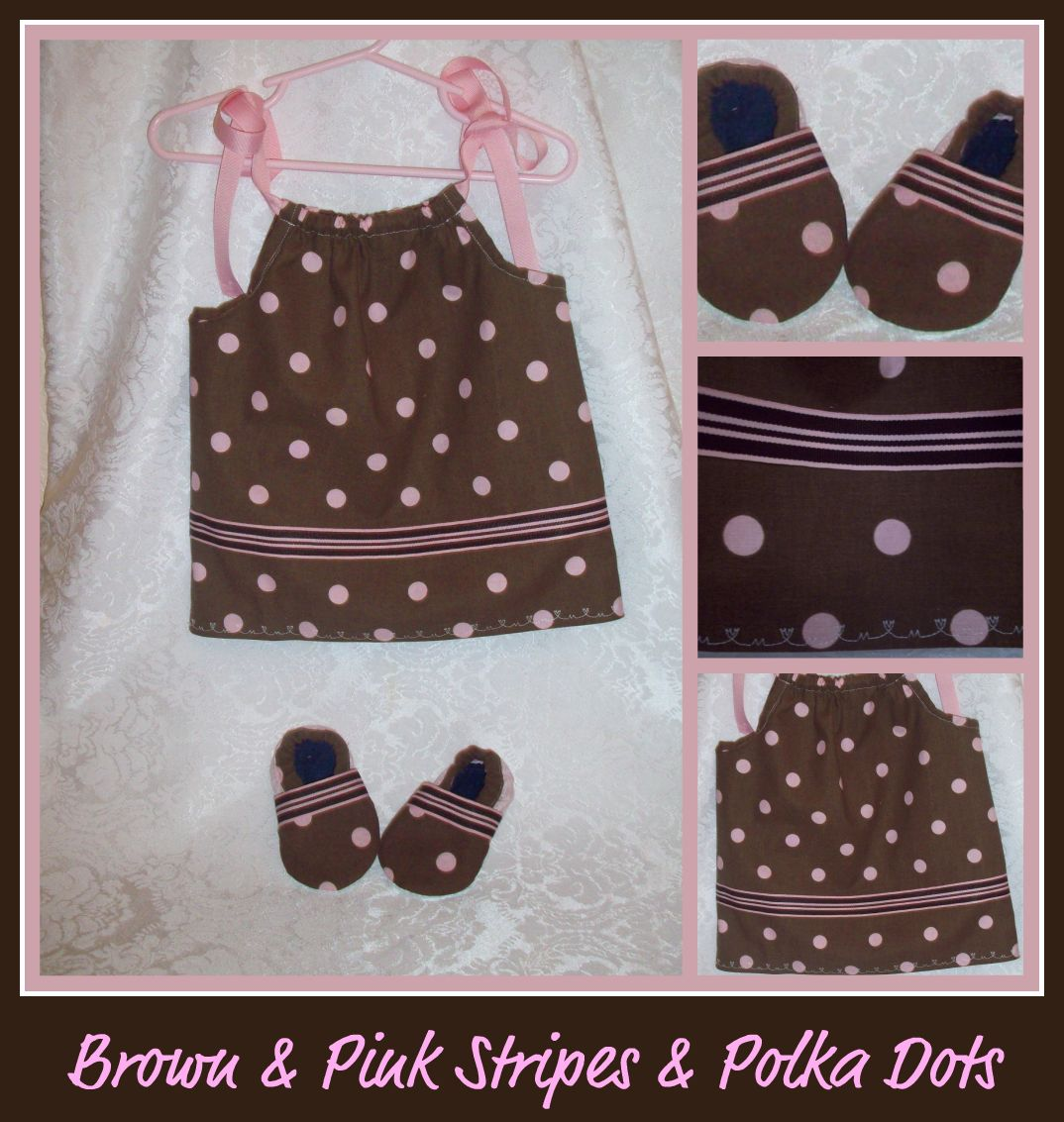 Brown & Pink Dress with Matching Shu-Booties