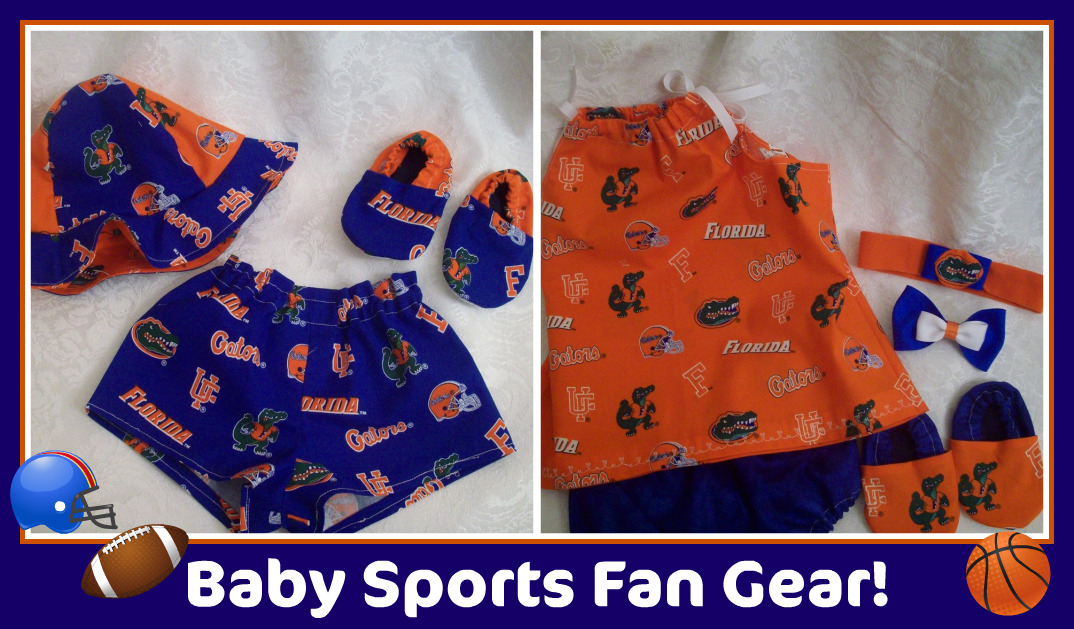 Florida Gators Boy/Girl Twins Baby Shower Gift Set