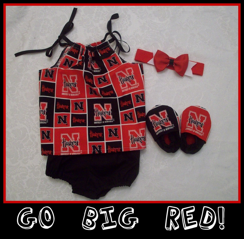 Nebraska Huskers Baby Girl Gift Set
